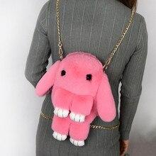 Backpacks Fashion Women Popular Diagonal Bags Messenger Plush Rabbit Bag