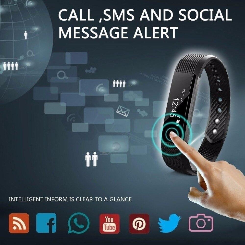 Bluetooth Smart impermeable relojes pulsera de Fitness deporte podómetro inteligente pulsera de los hombres de las mujeres Smartband para IOS Android