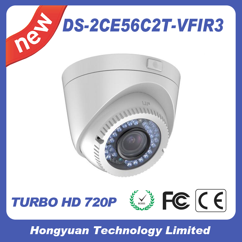 Dome Camera DS-2CE56C2T-VFIR3 night camera Hikvision cctv camera IP66 hikvision ds 2ce56d5t vfir белый