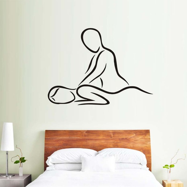 Dctop spa massage beauty salon wall stickers home for Stickers pour salon