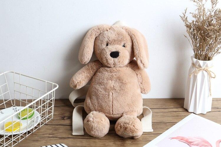 Marca Libero Teddy Bear sacchetto Il Zaino Zaino Di Delle Modo Borsa cuoio Scuola Cane Fmous Donne Ragazze Dello Inverno Peluche Beige Della Piccolo Tempo qTqx4wR