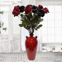 Große Australien Rose zweig Künstliche blumen schwarz rosen Seide gefälschte Blumen Für Home Hotel decor DIY Hochzeit fallen Dekorationen