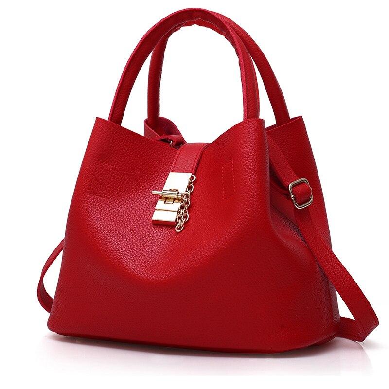 Sac pour femme En Cuir Femmes Sacs À Main Célèbre Marque Femelle Seau sacs à bandoulière sacs pour femme Grand Simple Trapèze Femmes sac de messager