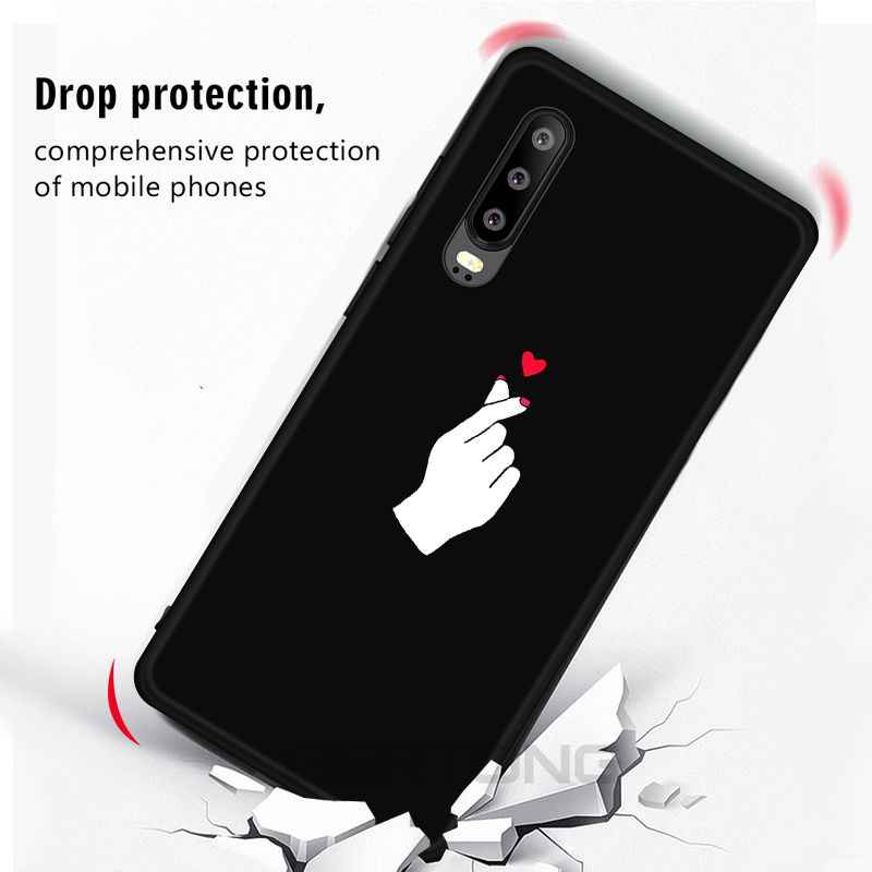 Love Heart Pattern Case For Huawei Honor V20 8X 10 Lite Y6 Y7 Prime 2018 Y9 Mate 20 10 Lite P30 P20 Pro Nova3 4 Soft Phone Cover