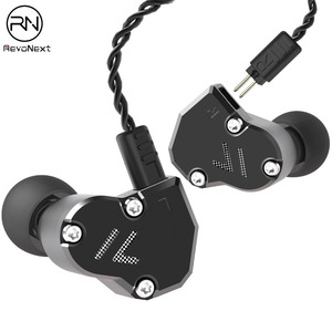 Image 1 - Revonext QT2S in Ear Monitor, Triple Driver Headphones 2DD+1BA Banlanced Armature with Dynamic Metal Shell Noise Isolating Deep