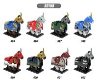 8Pcs Horse Animal Accessories Building Blocks Lord Of The Rings Hobbit Horse Nazgul Toys For Children