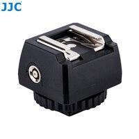 JJC Flash Adaptador de Zapata Estándar con PC Del Enchufe Hembra y 3.5mm Zócalo y 1/4-20 Trípode Calcetín del Zapato Fría para Speedlight