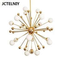 Modern golden ball chandelier luxury hotel clubhouse clothes hall atmosphere stylish living room bedroom