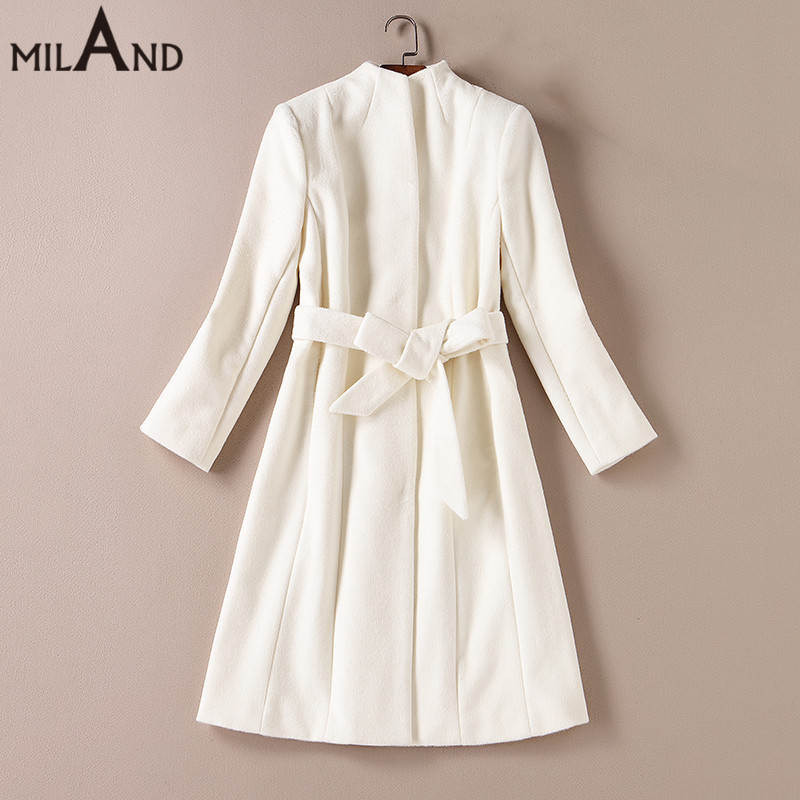 Popular White Wool Coats-Buy Cheap White Wool Coats lots from