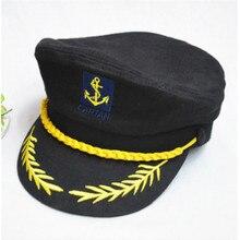 Gorra militar negra con rayas rojas y blancas gorra ajustable soldado capitán sombrero de marinero ejército Vintage policía huesos Gorras para Mujeres Hombres