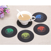 Mat Holder Vinyl CD Album Record Drinks Coasters for mugs cup Table decoration Stationery Office accessories School supplies
