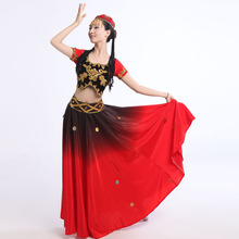 2017 New Arrival Hmong Clothes Disfraces New Big Swing Uighur Costumes Minority Dance Chin