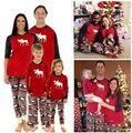 Горячий Продавать мужская Рождество Пижамы Семьи Рождественских Пижамы Набор Оленей Пижамы Пижамы мужская Повседневная Одежда Оптом
