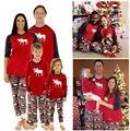 Venta caliente de Los Hombres de Navidad Pijamas Familia Juego de dormir ropa de Dormir Conjunto Pijama de Navidad Ciervos ropa de Sport de Los Hombres Al Por Mayor
