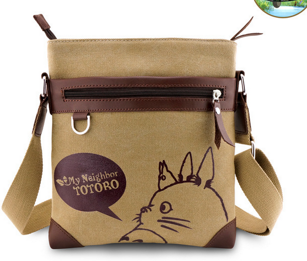 Anime My Neighbor Totoro Messenger Canvas Bag Shoulder Bag Sling Pack Cosplay Tonari No Totoro Handbag anime my neighbor totoro printing