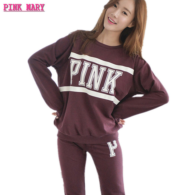 29d018c97927 Spring Autumn Women Pajamas Set Mujer Feminino Sleepwear Femme Lingerie  Korean Cute Pink Long sleeved Full Cotton Pyjama