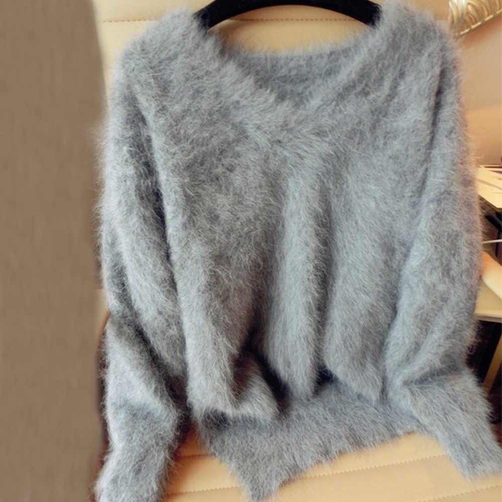 Suéter de cachemir de visón auténtico abrigo de Cachemira de mujer de visón puro personalizado tamaño y color envío gratis cuello en v suéter wsr296