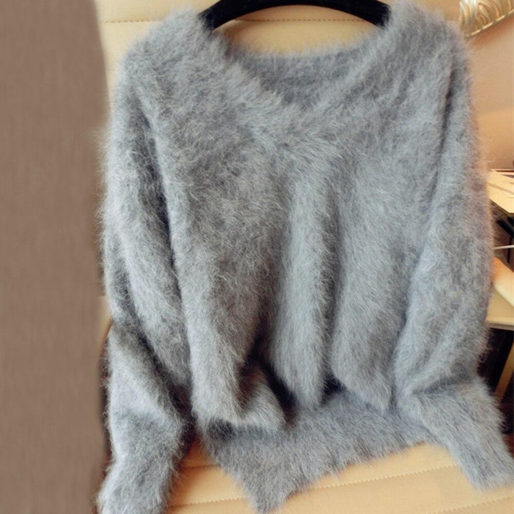 本物のミンクカシミアのセーター女性のカシミヤコート純粋なミンクカスタマイズされたサイズと色送料無料vネックセーターwsr296  グループ上の レディース衣服 からの プルオーバー の中 1