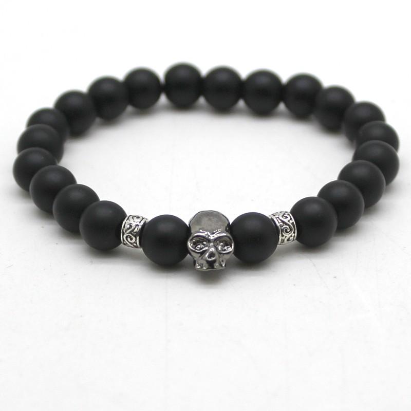 black-matte-bead-bracelet-with-stone-skull-1