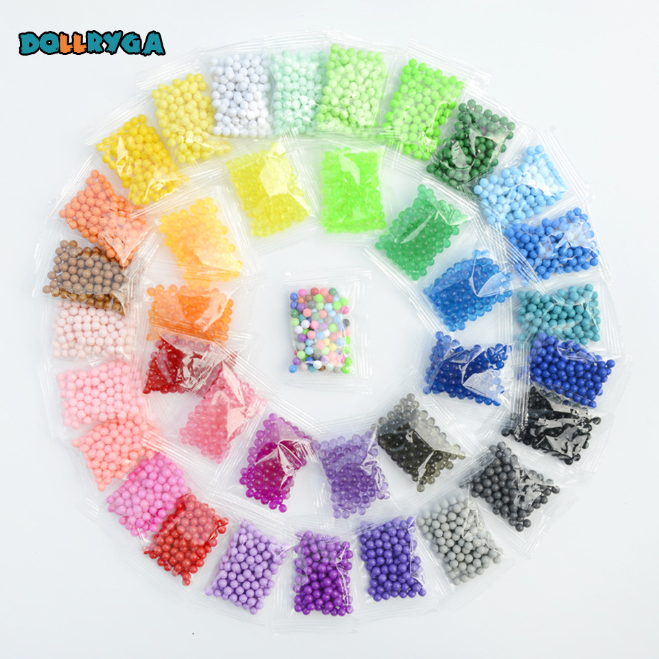 DOLLRYGA 1000pcs/bag Dla Dzieci Aqua Colors Beads DIY Set Perlen Waterl Beads Girls Gift For Children Loom Additives For Slices