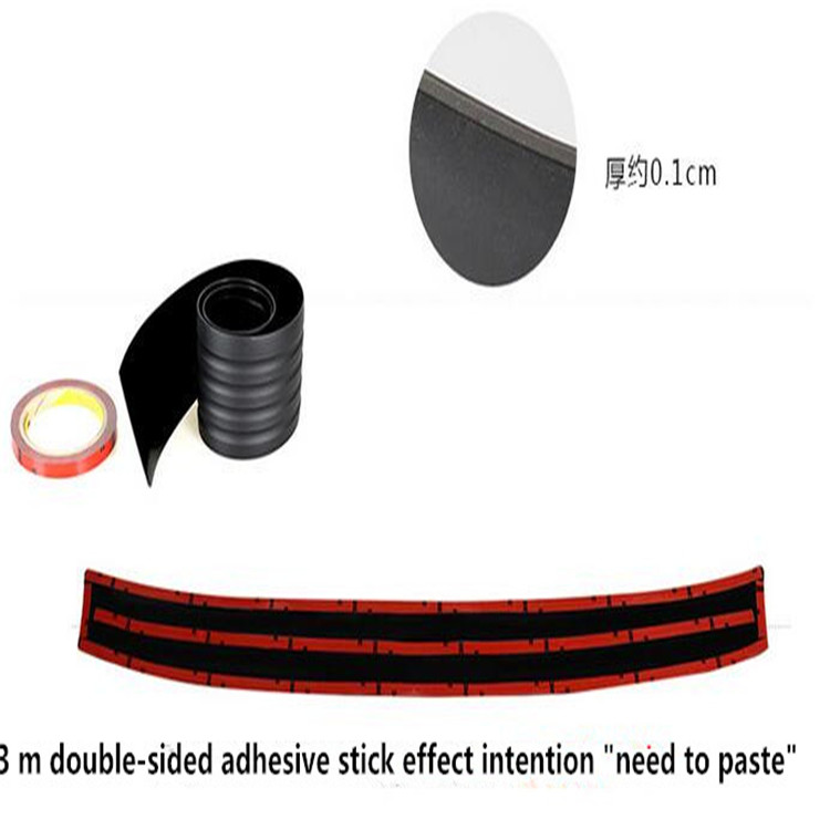 car Rear trunk rubber strip styling Prevent car scratches for Toyota Corolla Avensis Rav4 Yaris Auris Camry Prius accessories