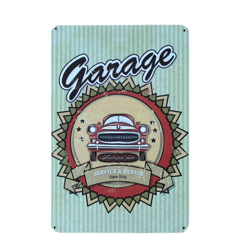 Vintage Car Motorcycles Garage Metal Tin Sign Bar Pub Home Wall Decor Shabby Chic Art Poster