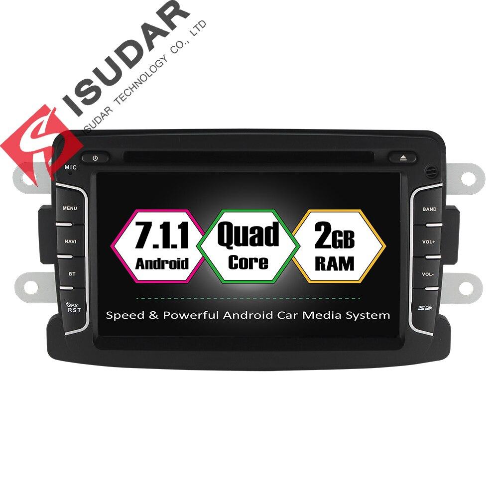 Isudar Автомагнитола 2 Din с Сенсорным 7 дюймовым Экраном на android 7.1.1 для автомобилей Dacia/Sandero/Duster/Renault/Captur/Lada/Xray 2 Logan 2 USB DVR