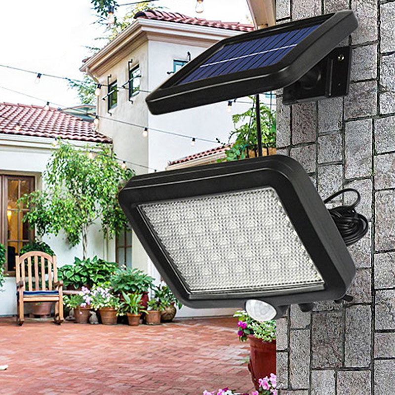 Waterproof Outdoor Solar Wall Light with 56 LED with PIR Motion Sensor for Garage and Yard 19