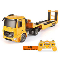 Wireless Control Transport Cargo Toy 1:20 103CM Automatic Lifting RC Truck Detachable Flatbed Semi Trailer Engineering Truck Toy
