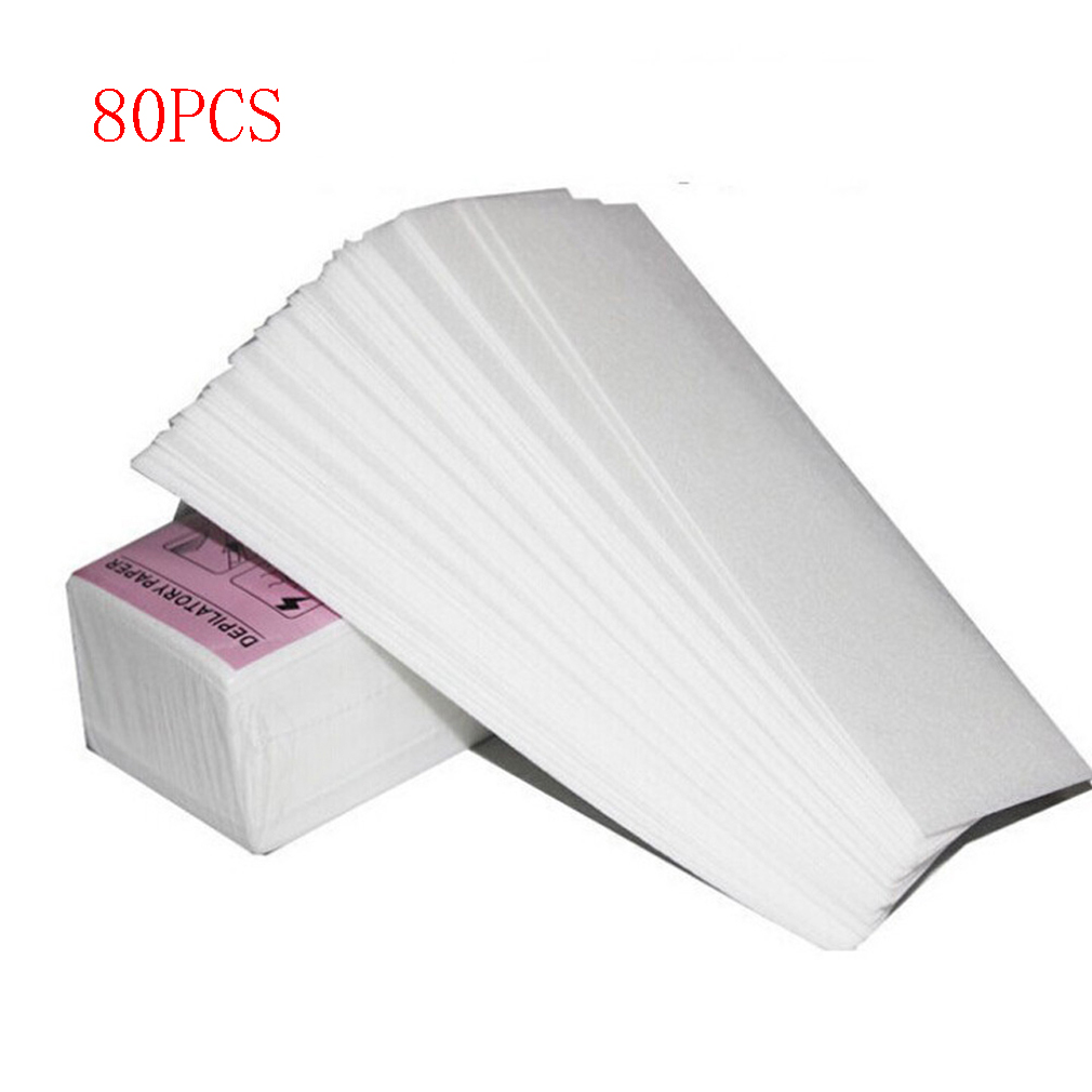 80pcs/lot Wax Strips For Hair Removal Depilatory Nonwoven Epilator Wax Strip Paper Roll Waxing Health Beauty Smooth Legs P