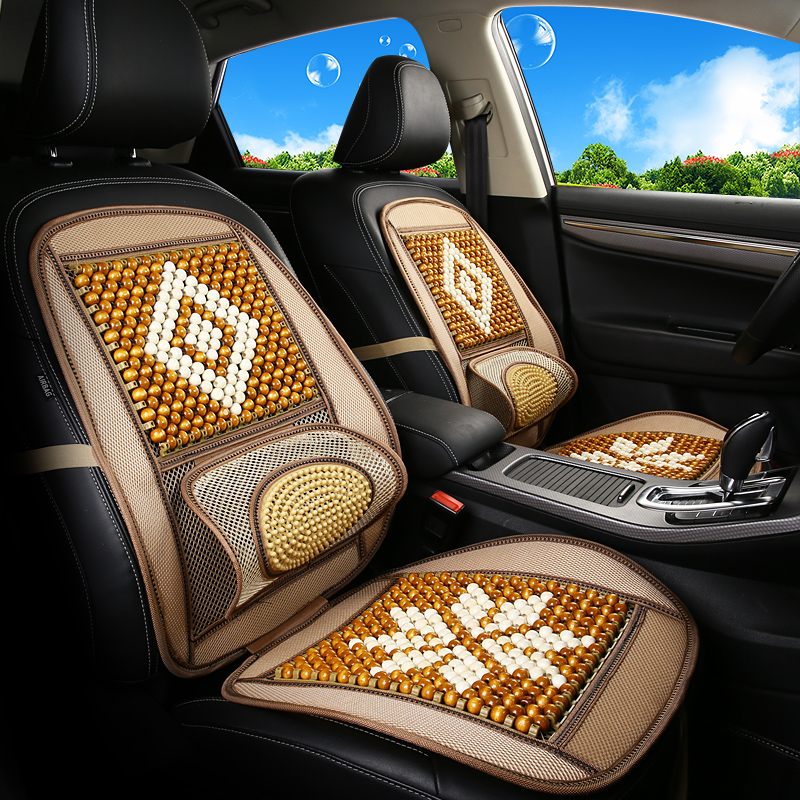 GEEAOK 2 pcs for front wood bead car seat cover Wooden beads chair massage cushion car seat cushion Car Accessories stylingGEEAOK 2 pcs for front wood bead car seat cover Wooden beads chair massage cushion car seat cushion Car Accessories styling