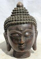 150610 S1432 10 Tibet Tibetan Buddhism Bronze Shakyamuni Amitabha Buddha head Bust Statue