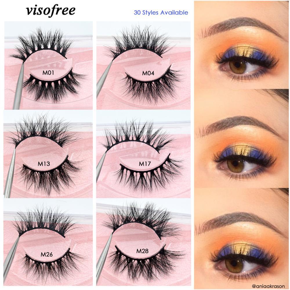Visofree Mink Eyelashes 3D Mink Lashes Natural Flutter False Eyelashes Thick Lashes Cruel-free Mink Eyelashes Makeup Cilios