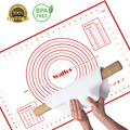 WALFOS 40*60cm Large size of silicone baking mat,attach scale Kneading dough mat,non-stick Silicone baking rolling pastry mat
