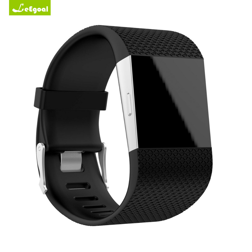 For Fitbit Surge font b Watch b font Band Soft Silicone Replacement Watchband Band Strap for
