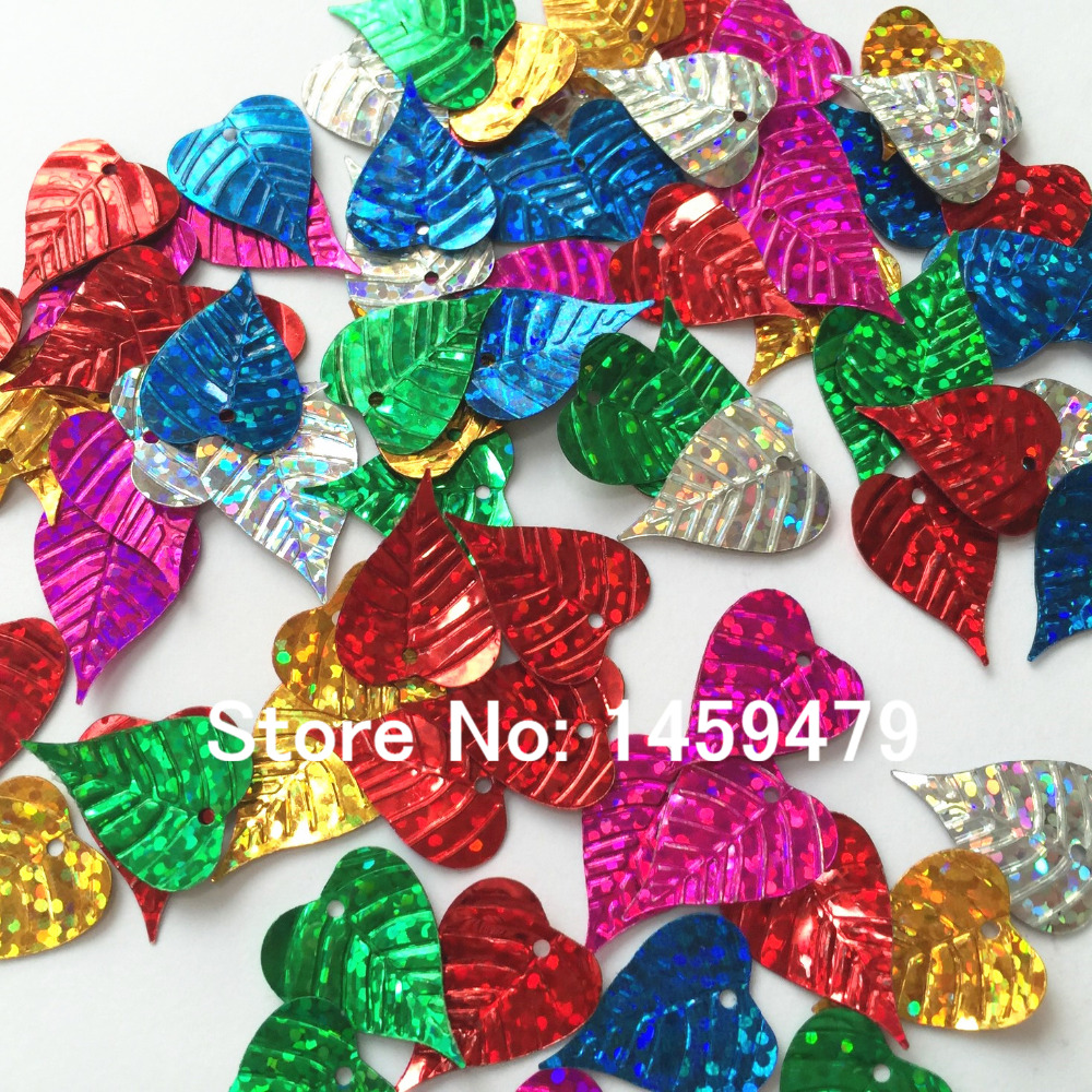 New 400PCS Mixed Color Leaf Sequins Scrapbook Material Handmade DIY  Material 15x20mm Dance Clothing Sewing Accessory 03b469dad895