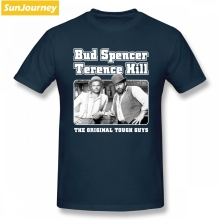 d837678af98 Pop Bud Spencer And Terence Hill T Shirt Camiseta Tshirt Men O-neck Cotton  Plus
