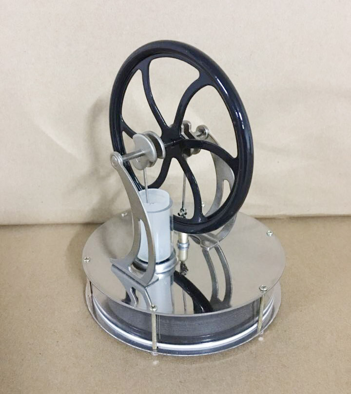 Low Temperature Stirling Engine Creative DIY Engine Model Temperature Difference Engine diy low temperature stirling engine educational puzzle toy kit silver