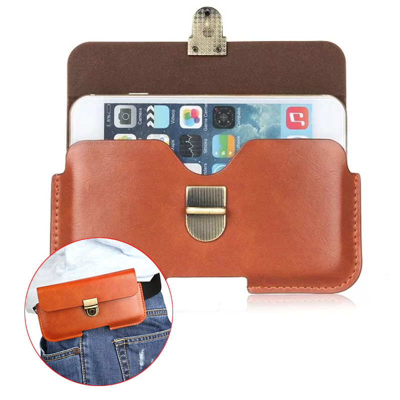 Outdoor Buckle Horizontal PU Leather Case For xiaomi redmi 3s 3 3x mi4c mi4 5.1 Below Wallet Cover Hook Belt Pouch Holster Bags