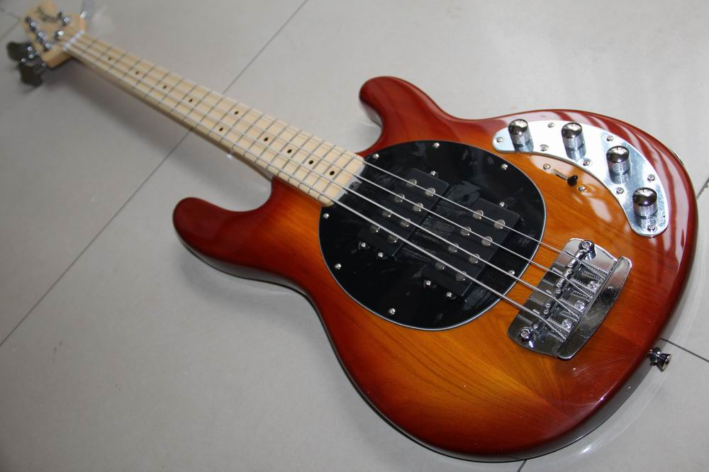 Wholesale Cnbald Electric Bass New Arrival 4 string Musicman Ray electric bass in sunburst 130301 new arrival es 175 model jazz electric bass guitar 4 string bass hollow body es175 in blue 130109
