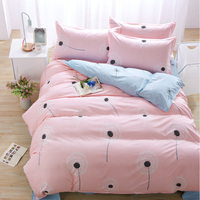 Warm Soft Bedroom AC Sleep Single Quilt Blossom Patchwork 1 Duvet Cover And 2 Pillow Cases