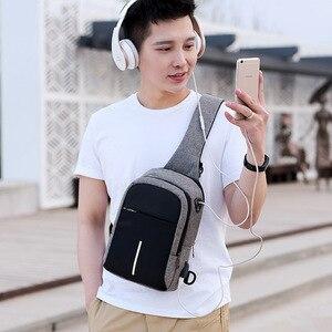 Image 3 - Fengdong קטן usb תשלום כתף תיק גברים שליח שקיות נשים עמיד למים קלע חזה תיק ילד נסיעות bagpack צלב גוף שקיות