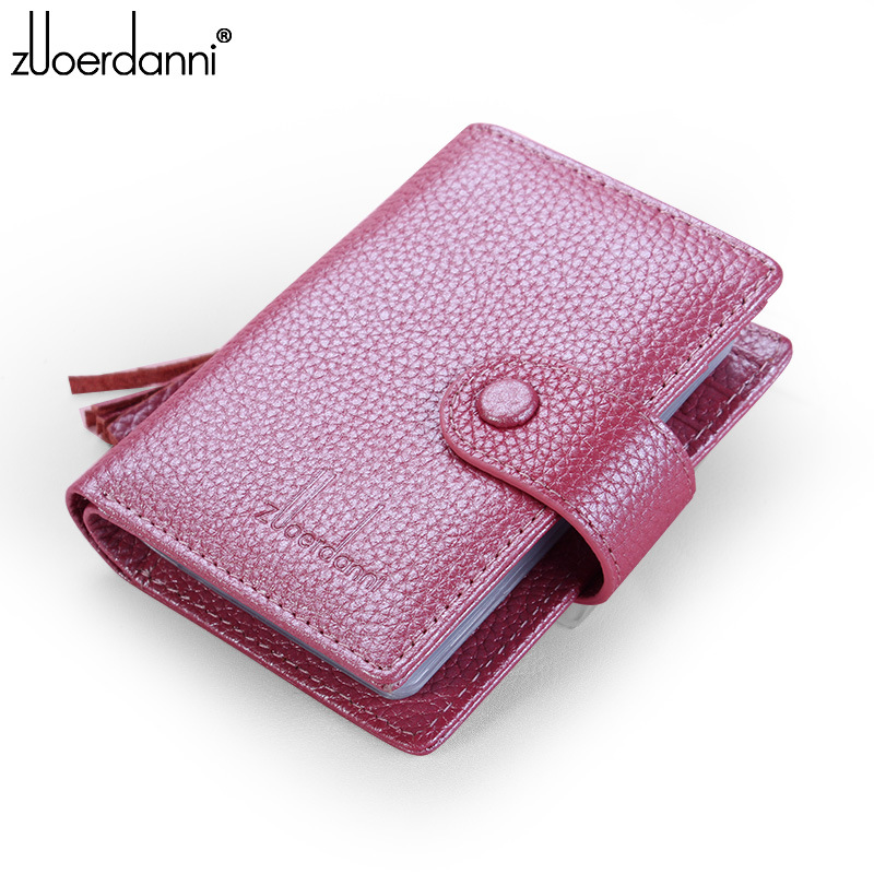 Genuine Leather Card Holder Wallet Women Purses Multifunctional Fashion Female Credit Card Bag 24 Bill Card Case Purses women wallet women s purses genuine leather clutch with large capacity for credit card cash fashion design female purses
