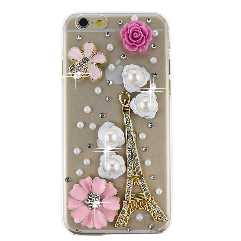 36e66c0f4 Hot 100% Handmade 3D beautiful flower bling crystal diamond Rhinestones  hard back mobile phone case cover for iphone 6 4.7 inch on Aliexpress.com    Alibaba ...