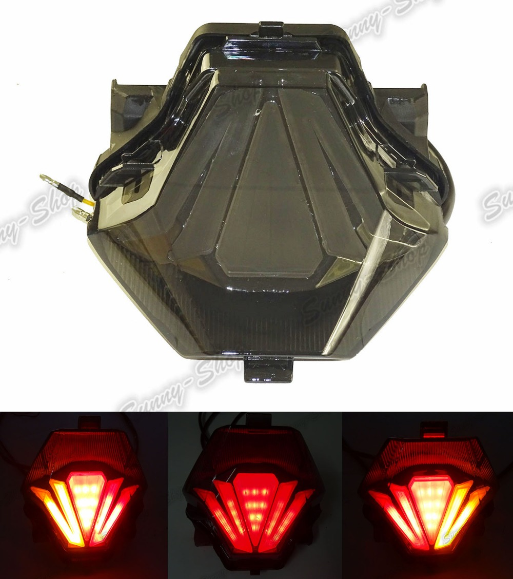 Rear Taillight Tail Brake Turn Signals Integrated Led Light Smoke For 2013 2014 2015 2016 Yamaha YZF R3 R25 aftermarket free shipping motorcycle parts led tail brake light turn signals for yamaha yzf r1 yzf r1 2004 2005 2006 smoke