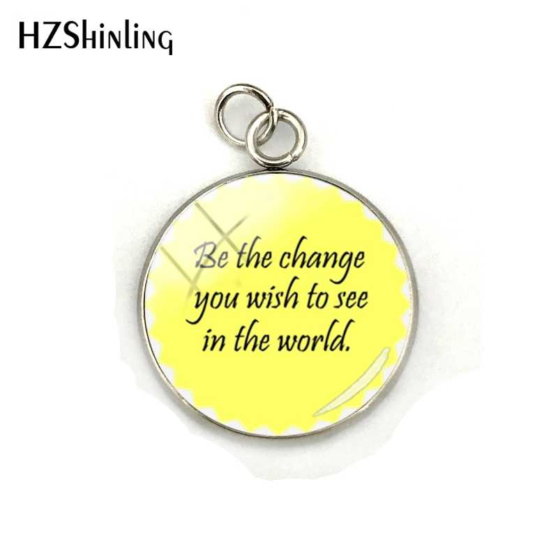 Inspirational Quotes Funny Letters Glass Cabochon Jewelry Quotes Pendants  Stainless Steel Charms Pendants Jewelry Accessories