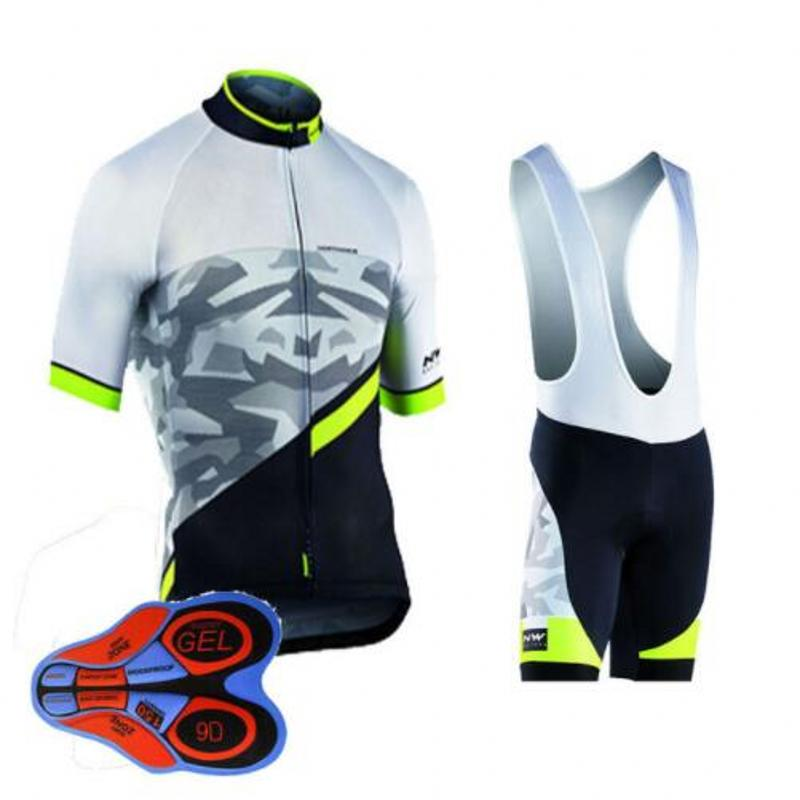 Hommes de 2018 NW Cyclisme Vêtements Bleu Bike Wear Hommes À Manches Courtes Vélo Maillot Vélo Vêtements Jersey Ropa Ciclismo Vêtements FK84