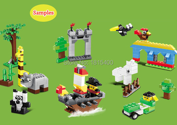 625pcs/lot Kids DIY Toys Educational Building Blocks Compatible With Lego Bricks Parts Boys Early Learning Plastic Assembly Toys 4