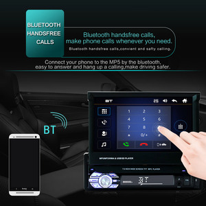 """Image 4 - 9601 7 """"HD Màn Hình Cảm Ứng Đa Năng Bluetooth Xe Hơi MP4 MP5 Người Chơi Điều Hướng Đài FM Ổ Đĩa U/AUX/ thẻ SD Phát Lại Gương Chiếu Hậu"""