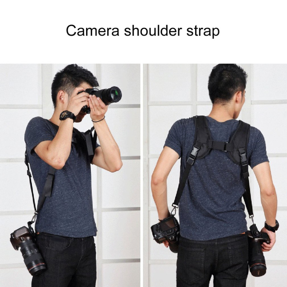 PULUZ Professional Camera Strap Durable Soft DSLR K Pattern Double Camera Shoulder Strap Adjustable Belt for Canon Sony DSLR